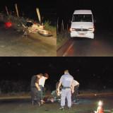 Acidente entre van e moto deixa uma vítima fatal na Rodovia Roberto Calmon; vídeo